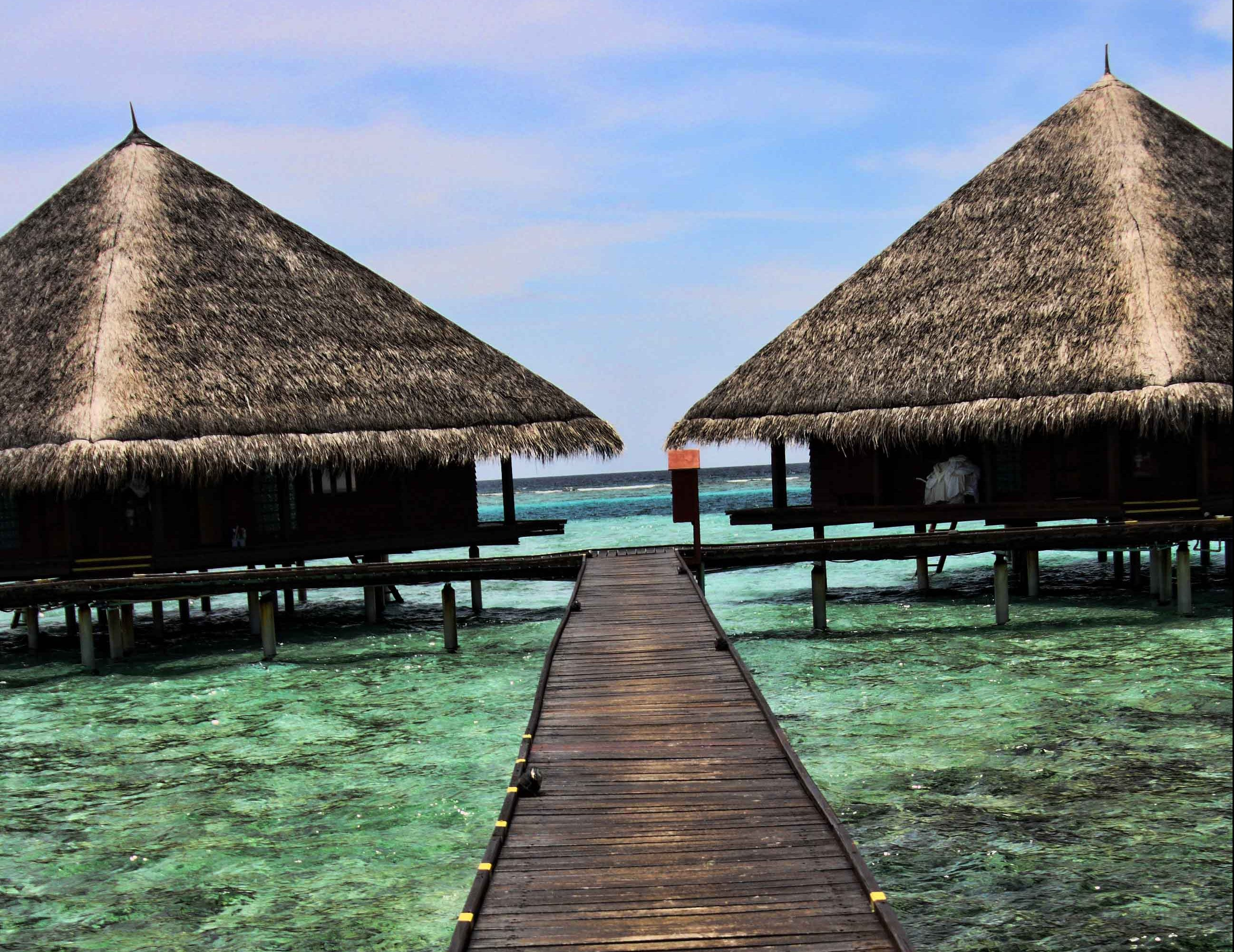 Walk way to the water bungalow