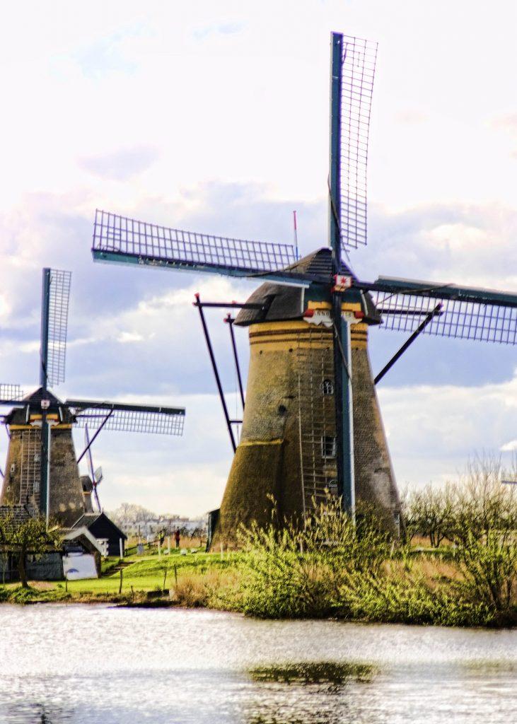 Windmills along the path