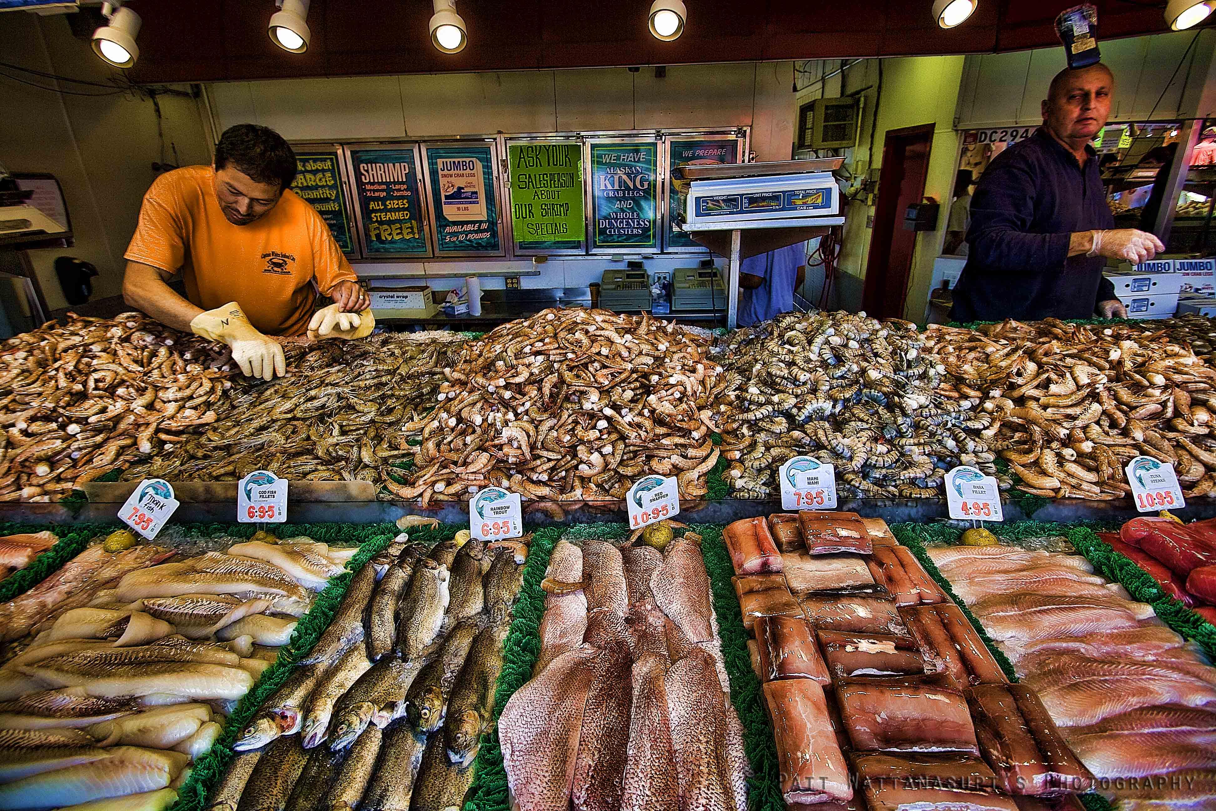 Seafood Vendor at DC Fish Market