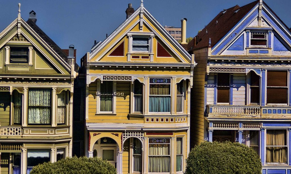 Painted Lady at Alamo Square in San Francisco