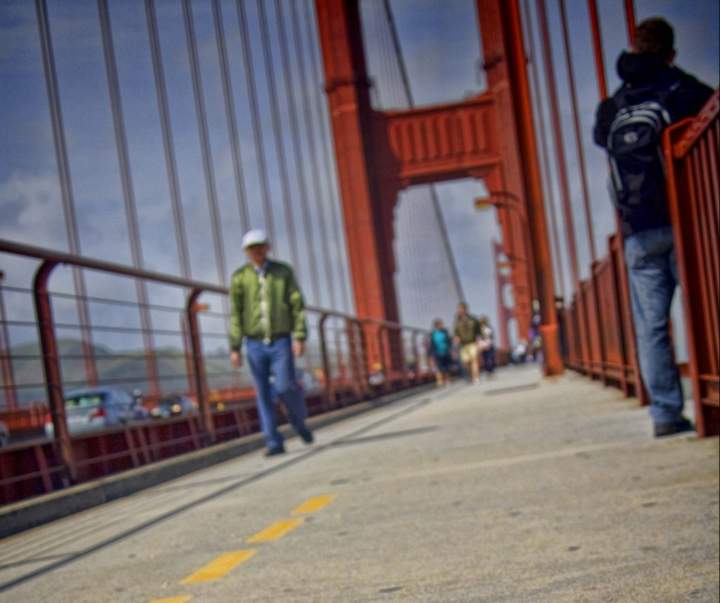 Pedestrian Walkway on Golden Gate Bridge